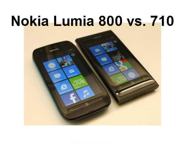 Nokia Lumia 800 vs 710
