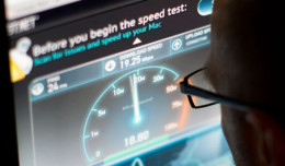 Online broadband speed test