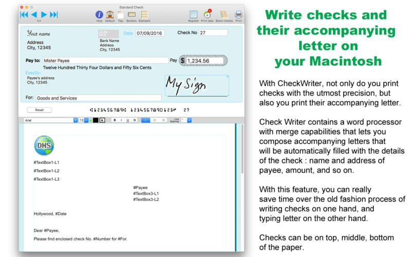 Check Writer III For Mac Review