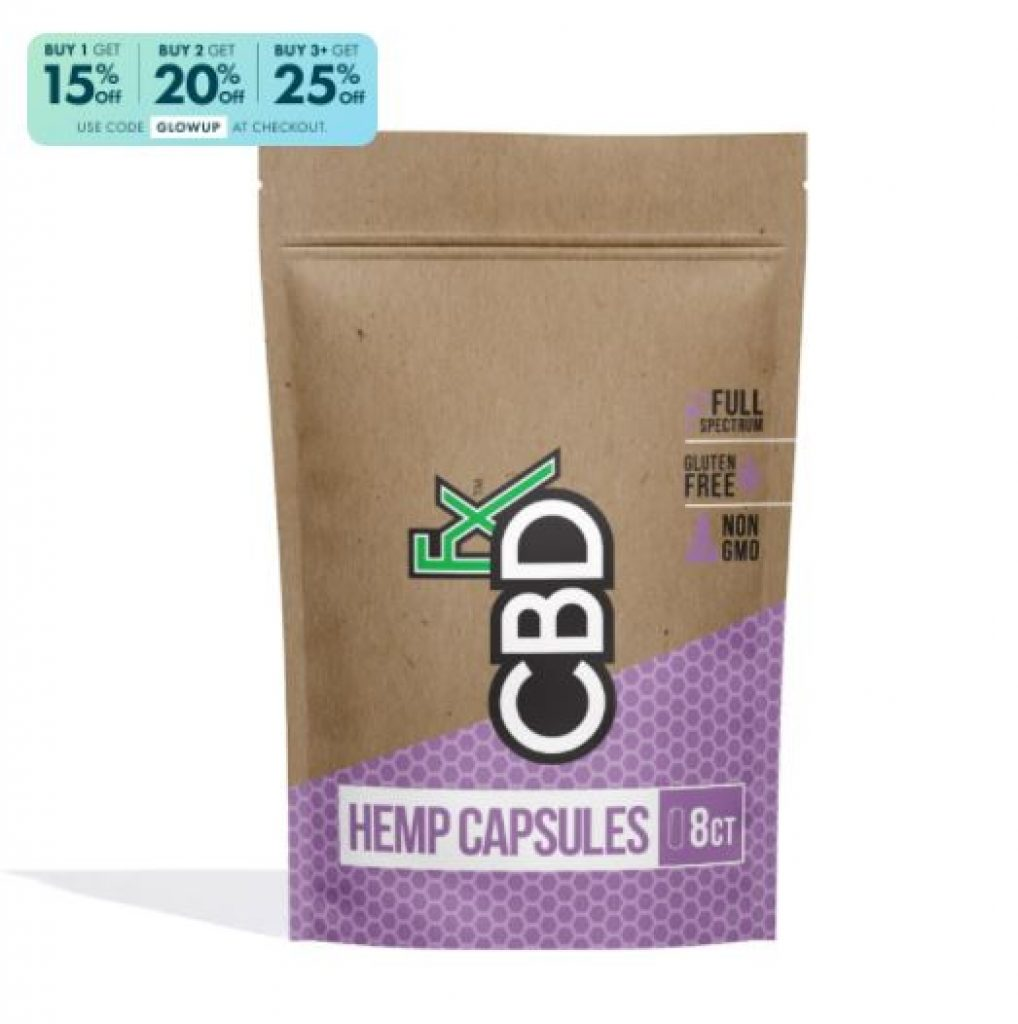 CBDfx CBD Pills 8ct Pouch 200mg