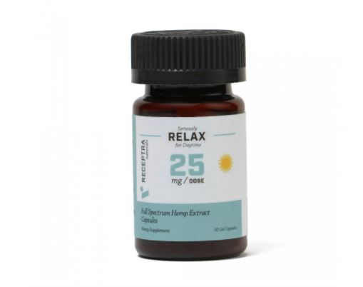 Receptra Naturals Seriously Relax Gel Capsules 25mg