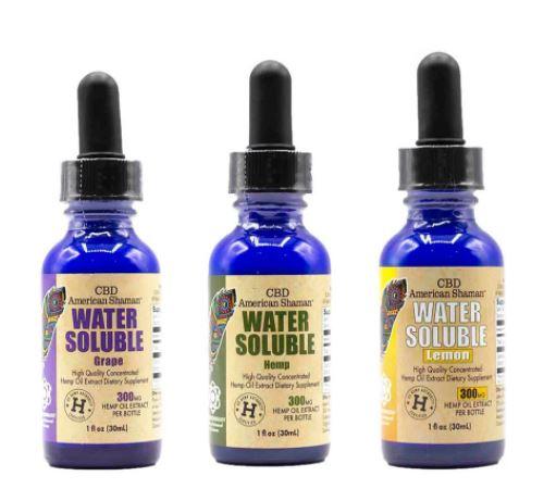CBD American Shaman Water Soluble CBD, Full Spectrum Hemp Oil